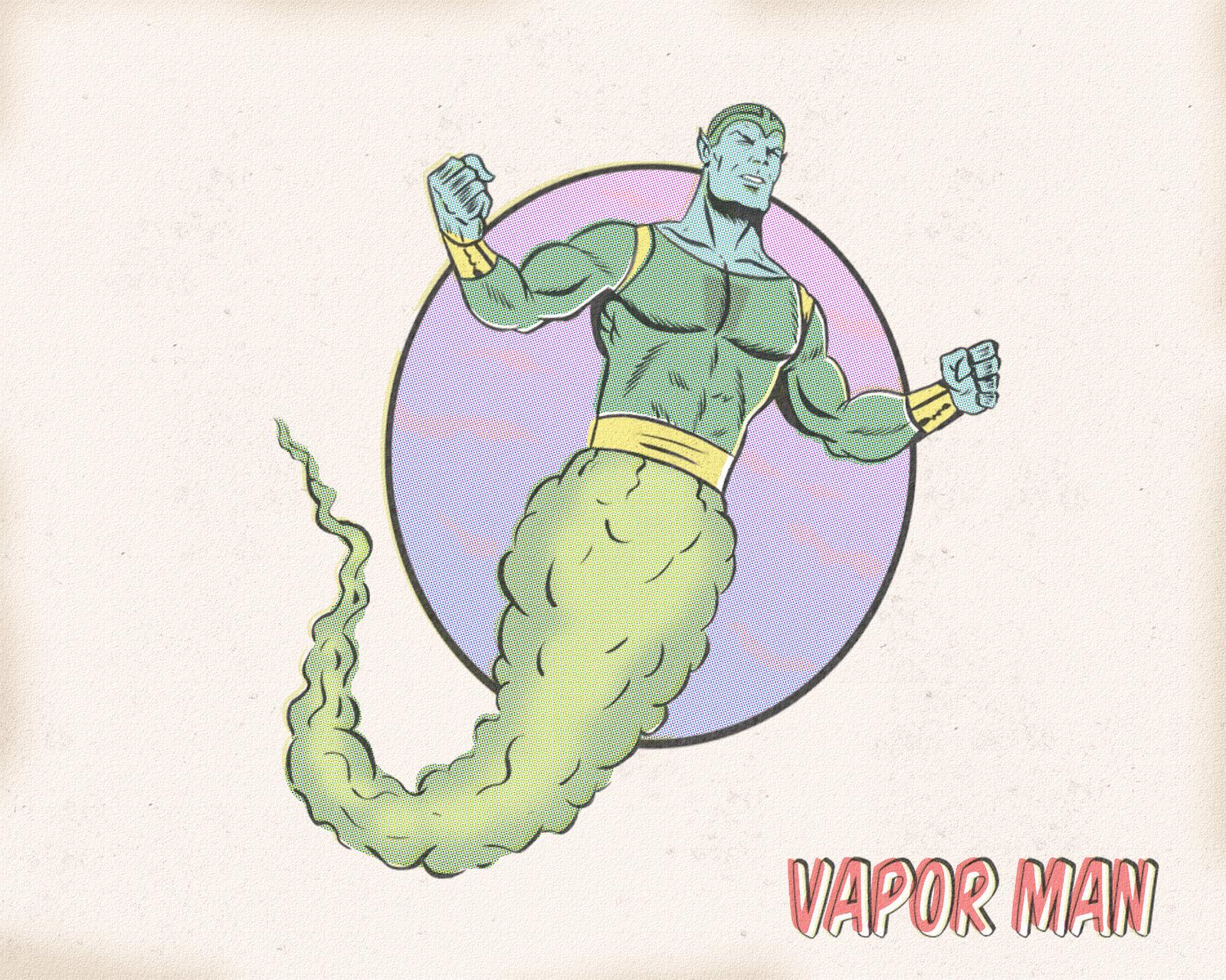 VAPOR MAN by paintmarvels