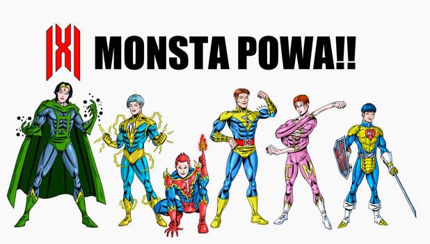 MONSTA X ( as superheroes)