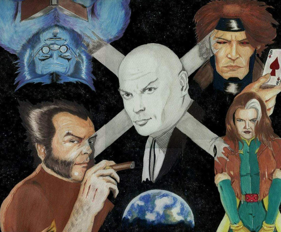 X-MEN WATERCOLOR by paintmarvels