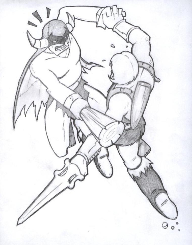 MIGHTOR VS HE-MAN by paintmarvels