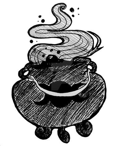 Witchy Cauldron by Artcandie