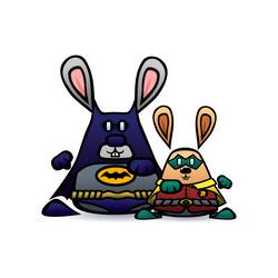 Batman and Robin Nyullancs by SquareBugArt