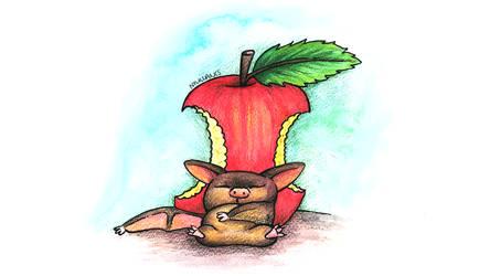 Fruit bat by SquareBugArt