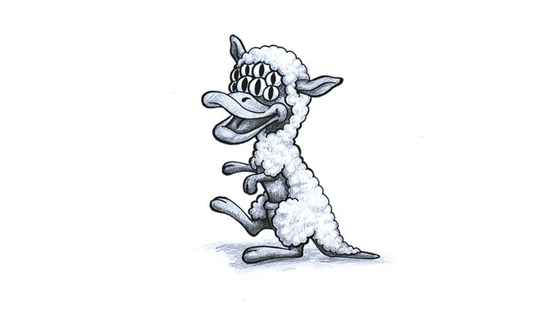 Eight-eyed  platypus sheep-kangaroo by SquareBugArt