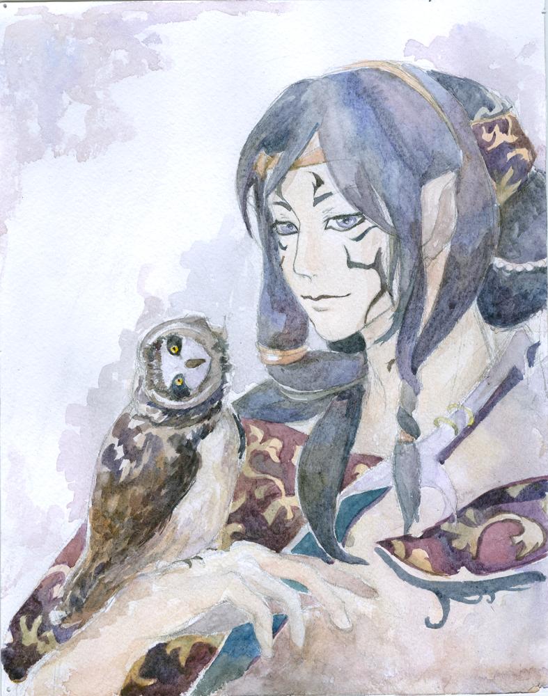 tiger and owl by teruteru-ayu