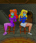 Daphne and April in the Dark castle ! (by vwyler)