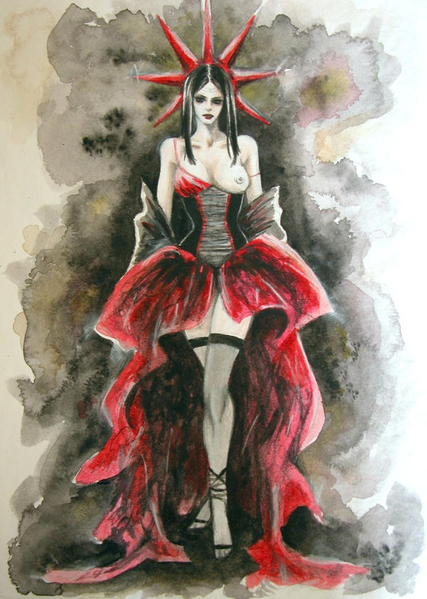 Lady of Red by kittrose