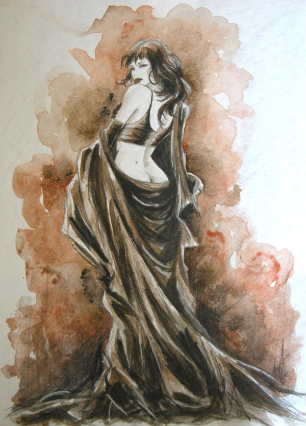 sketch-luis royo by kittrose