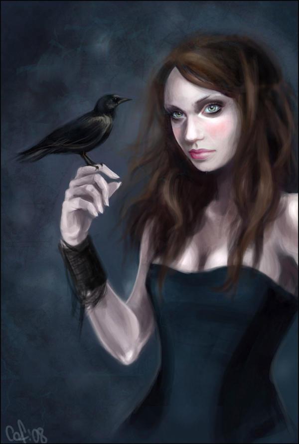 raven lady by kittrose