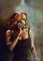 Natasha Romanoff by kittrose