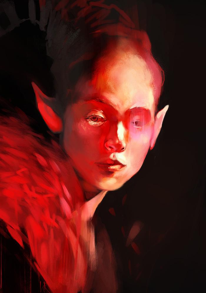 Red Elf by kittrose