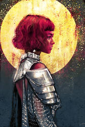Zendaya as Jeanne d'Arc by kittrose
