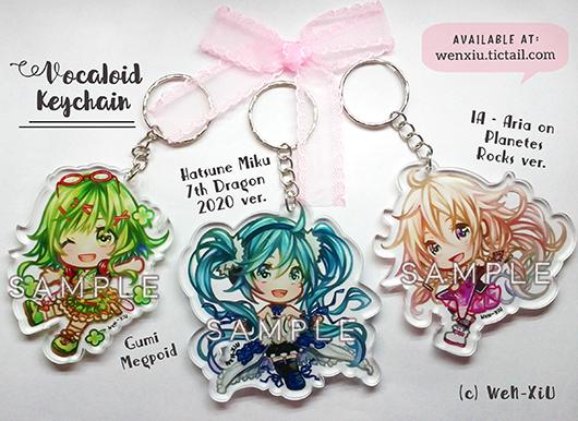 Vocaloid Keychain by WeN-XiU