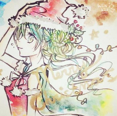Miku and Christmas by WeN-XiU
