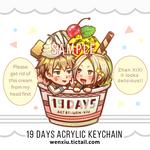19 Days Keychain