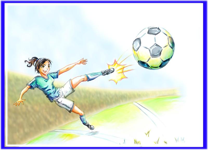 Jugando futbol 2 by BleakSunset