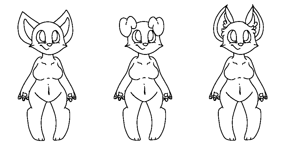 Anthro Ref Sheet Base Free Cat Chubby