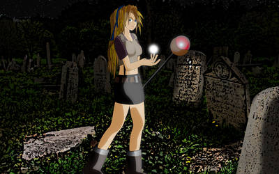 Miss Seasmile the crypt explorer by randygovasic