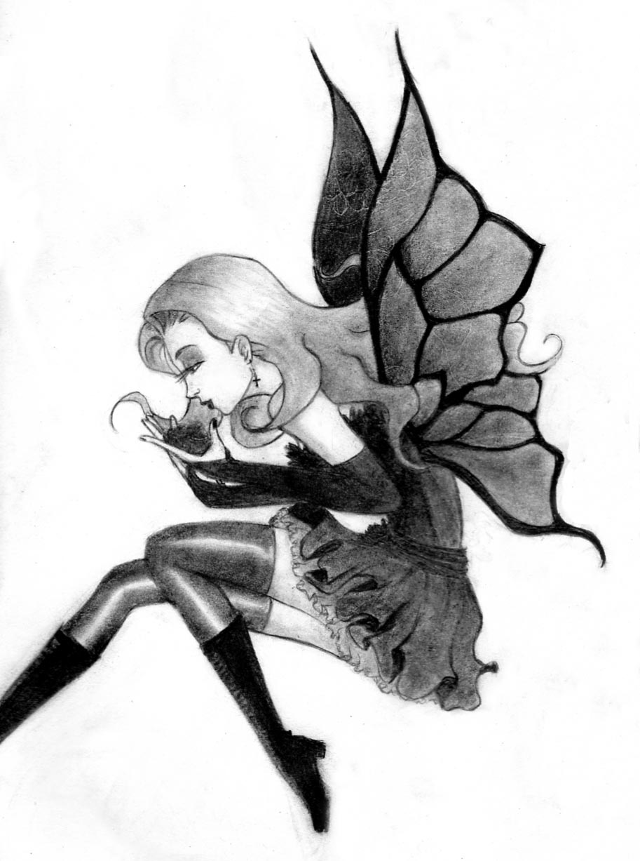 Easy Drawings Of Gothic Fairies | www.imgkid.com - The ...