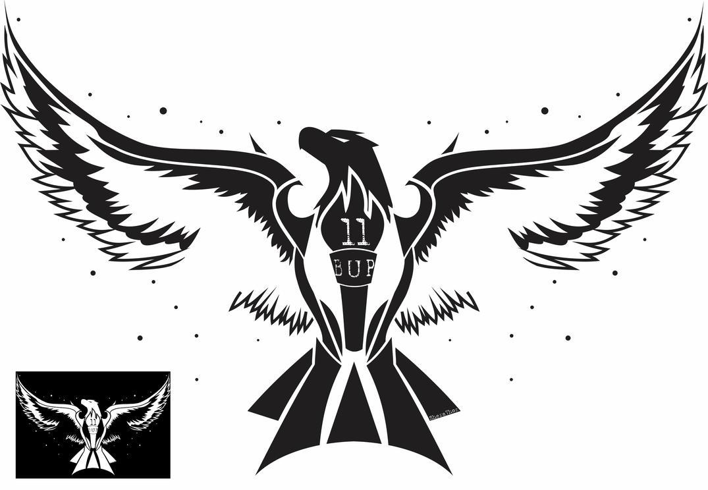 American Flag Tattoo Design Outline