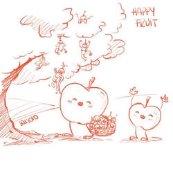 Sketchtember 4 - Happy fruit