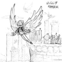 Sketchtember 7 - Wings of freedom
