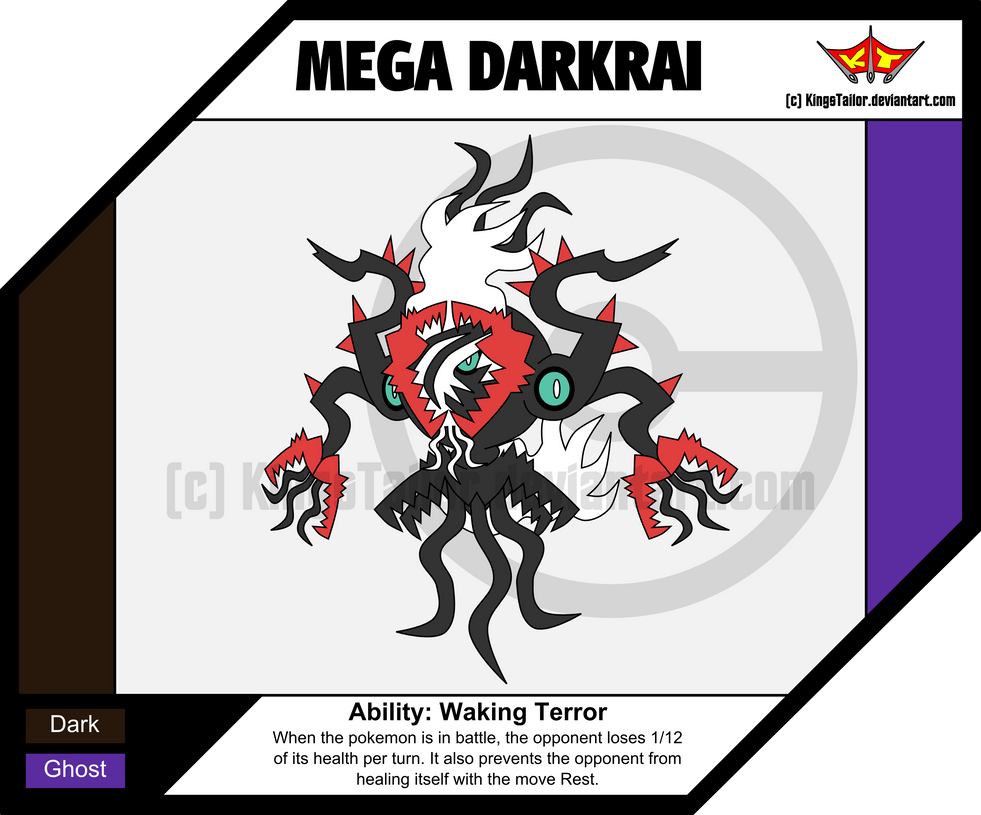 Mega Evolved Darkrai Mega Darkrai