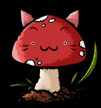 Mushroom Cat Line by bwusagi on DeviantArt