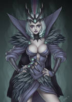 Ravenborn Leblanc (LoL fanart) by essentialsquid