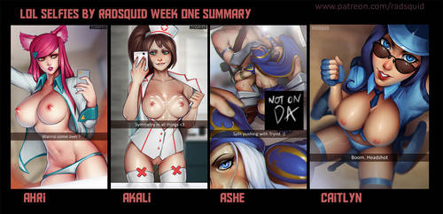LOL SELFIES FIRST WEEK DONE :D by essentialsquid