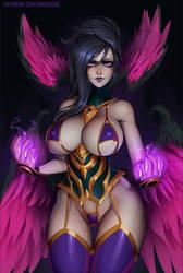 Morgana (LoL) lingerie version by essentialsquid