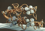 Copper Wire Kyanite Arm Band