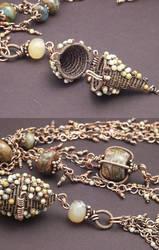 Jasper Wire Box Necklace by WiredElements
