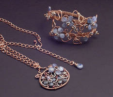 Kyanite Floral Set by WiredElements