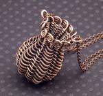 Twined Copper Basket Pendant
