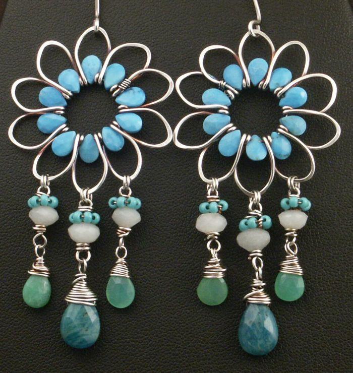 Flower Earrings by WiredElements