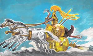 Achilles dragging Hektor