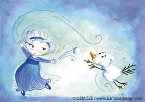 Princess disney and their dog (Serie, frozen Elsa) by Ozmoze-Land