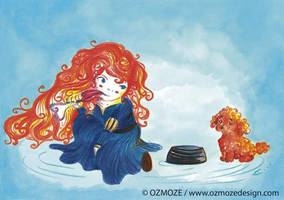 Princess disney and their dog (Serie, Rebelle) by Ozmoze-Land