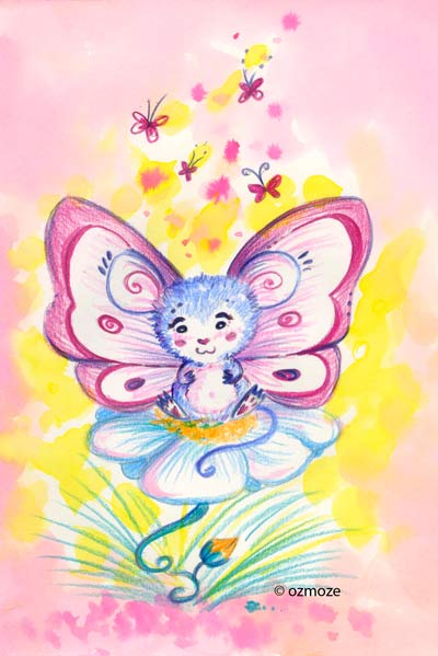Papillon-souris by Ozmoze-Land