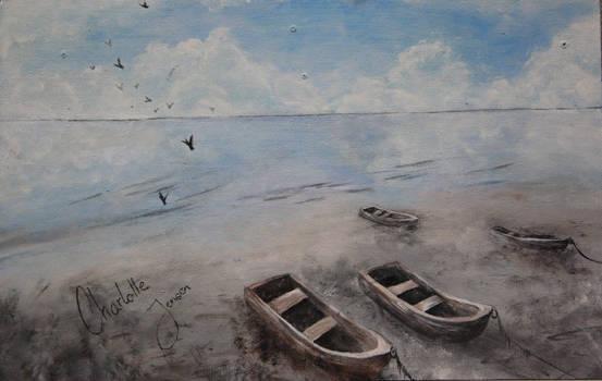 Boats on the beach II