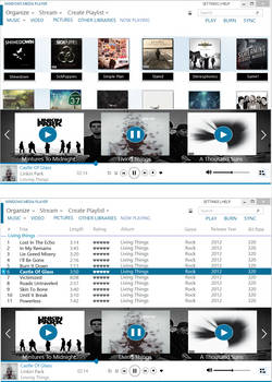 Concept: Metro windows media player