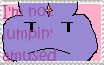'I'm not lumpin amused' stamp by blazikenwriter