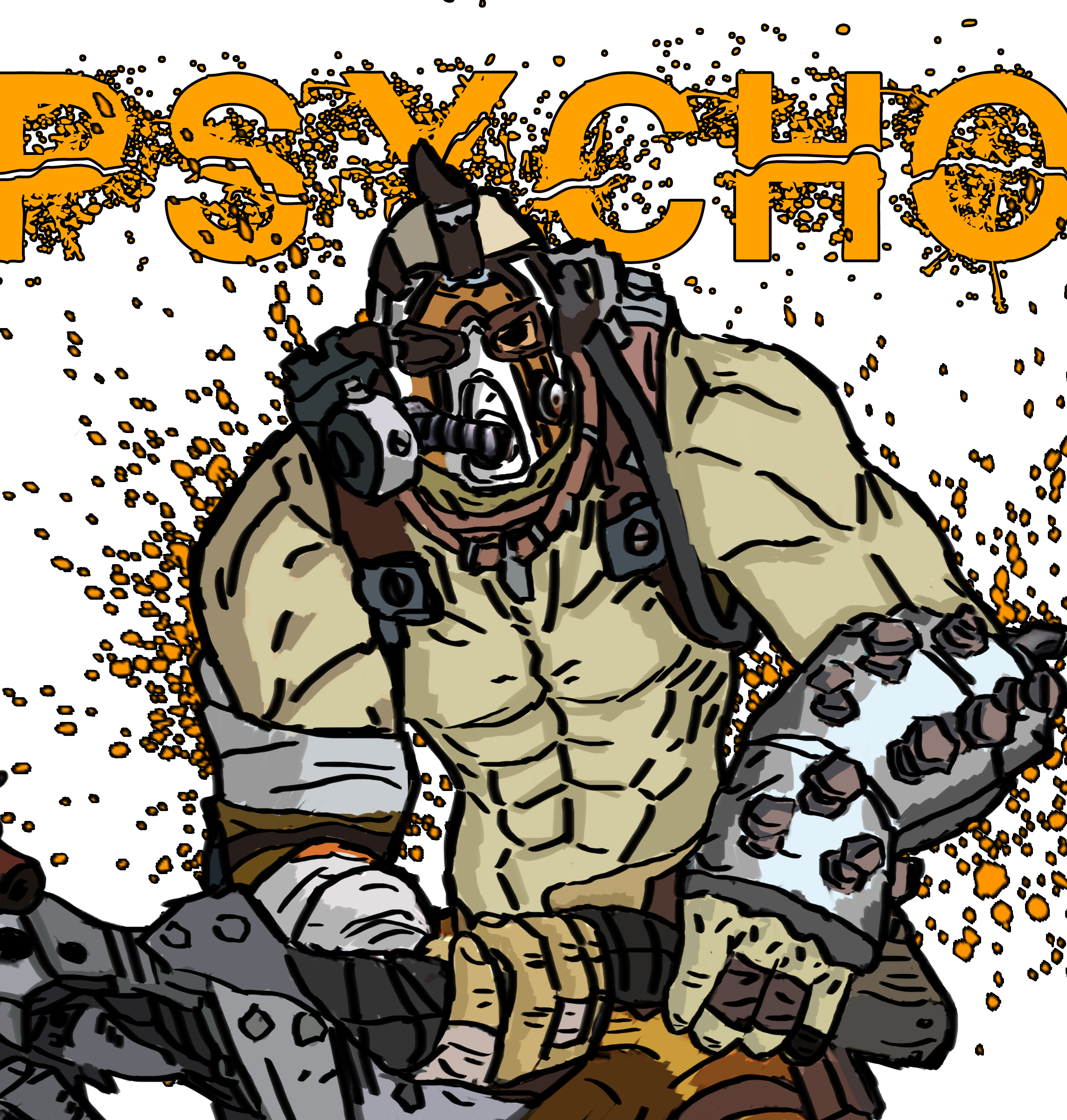 Krieg The Psycho Borderlands 2 Wallpaper By: Krieg The Psycho, Borderlands 2 By Jackobaggy On DeviantArt