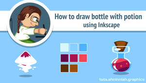 How to draw bottle with potion