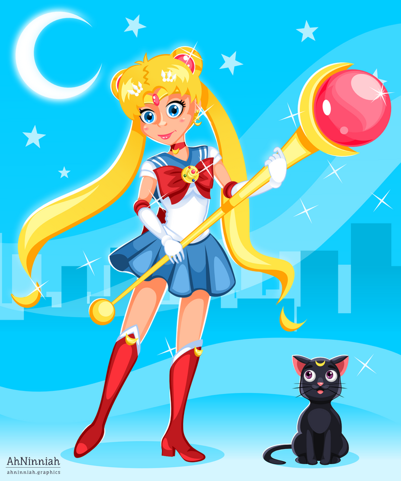 Sailor Moon by AhNinniah