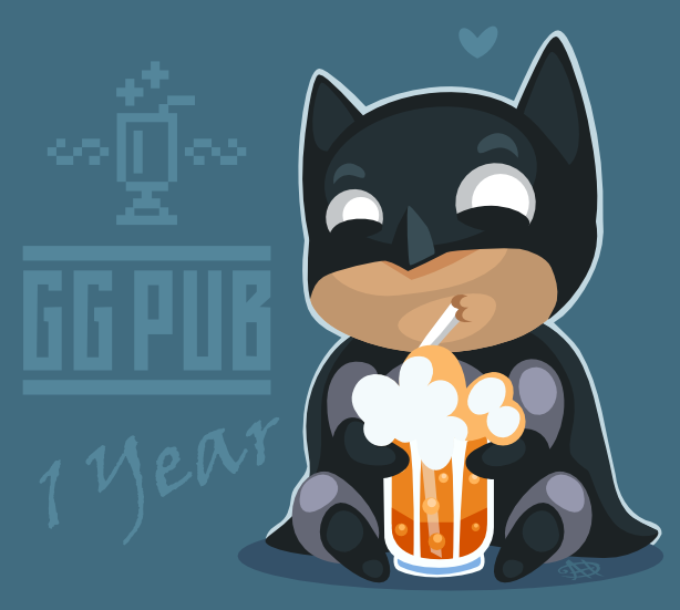 Batman at GGPub by AhNinniah