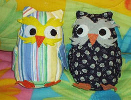 Owl Plushies by Evergreen-Willow