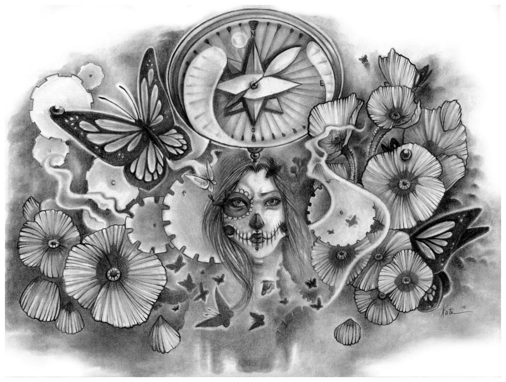 Tattoo sleeve Commission: Caro by KateBelangerArts