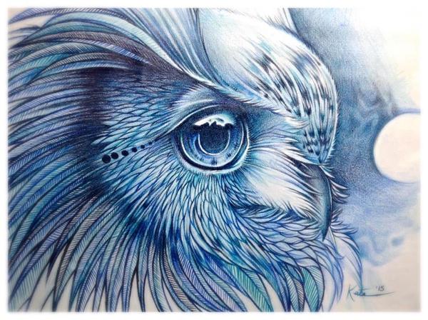 Mary's Owl by KateBelangerArts